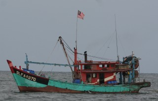 Malaysian fishing trawlers were abundant in the Straits