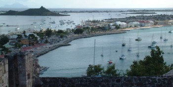 Marigot and Simpson Lagoon, seen from Fort Louis