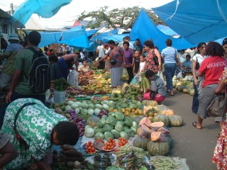 Suva's dynamic outdoor market with its endless variety