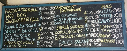 Prices in the millions (Zim $) leaves very little room left on the menu.