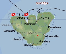 Click on the map to go to the general Society Islands page