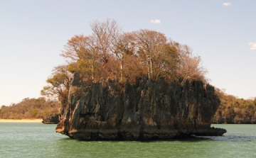 Fantastic islets with baobabs, Moramba Bay, Madagascar