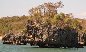 Wild rock formations in Moramba Bay