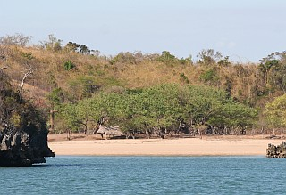 Lone house on the shores of Moramba Bay