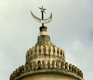 The top of a mosque in Mayotte.