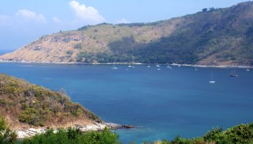 Nai Harn Bay, Phuket Island, during winter season