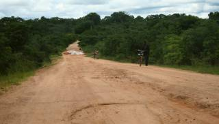 Challenging red mud road, Choma, Zambia