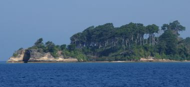Headland on SW corner of Nell Island, Andaman Islands