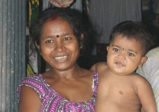 Mother & son. Part of India's 1.2 billion people