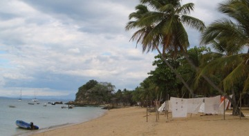 Anchorage & beach at Nosy Komba, Madagascar