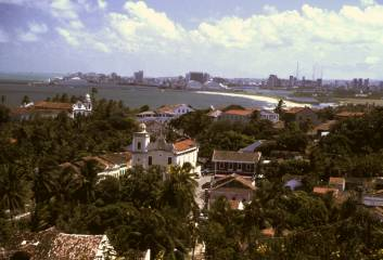 Olinda, an old suburb of Recife, Brazil, our landfall