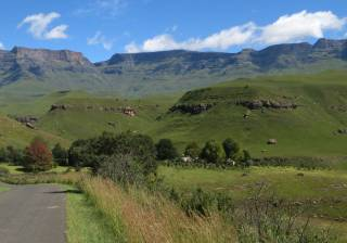 On the road in the Drakensberg, South Africa. Gorgeous!