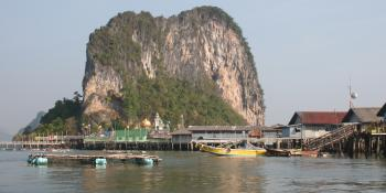 Floating Muslim village of Pan Yi, in Phang Nga Bay