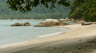 A quiet stretch of the Strait -- Pangkor Is.