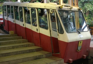 The strange cars of the Penang Funicular
