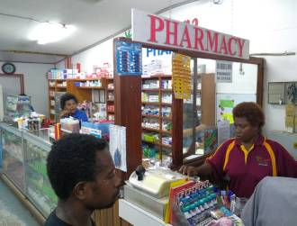 Pharmacy in Tropicana market, Rabaul, PNG