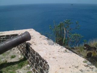 Cannon on Fort Rodney, St. Lucia