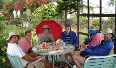 Lunch at the Nevis plantation in the rainforest