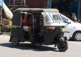 Grab a tuk-tuk to get around Port Blair!