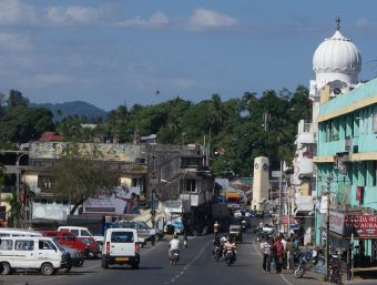 One of the main streets of Port Blair, Andaman Is.