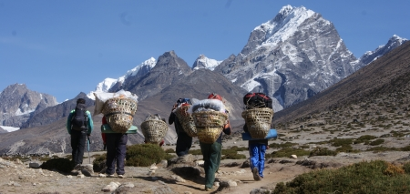 "Porters on the ""Everest Highway"""