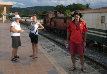 Carmel, Rachel and Jon in Beaufort, Borneo