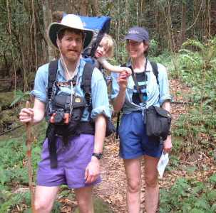Hiking in the Nevis rainforest with Princess Claire