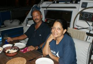 Wonderful new friends! Ravi and Shantha