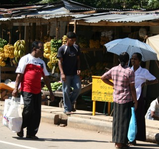 Typical Sri Lanka highlands street scene