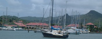 Rodney Bay Marina -- where there used to be cow pastures!