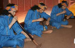 Wax figures of the Sultan's Royal musicians