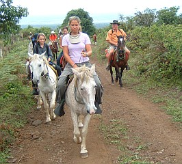 Yachties on horses! Isabela Island