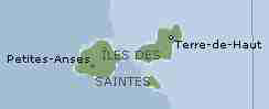 The Saints - A collection of small islands south of Guadeloupe.