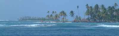 The beautiful outer reef of the San Blas islands