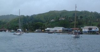 Savusavu ancorage is a creek between mainland & islands