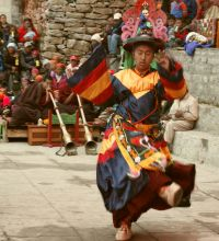 Black hat monk dancing Serkyem