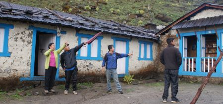 Our Sherpas outside our very basic Chutanga tea-house