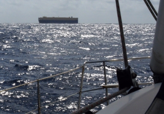 Only 1 ship passed near us, north of Madagascar