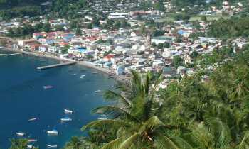 Soufriere, St. Lucia, from the road
