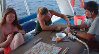 Rori and Sue played lots of Scrabble.