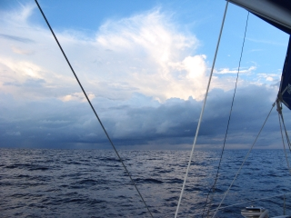 Squalls are common when sailing in the ITCZ