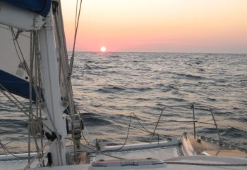 Sailing into the sunset in the Mozambique channel