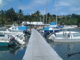 The dock at Suva Yacht club.