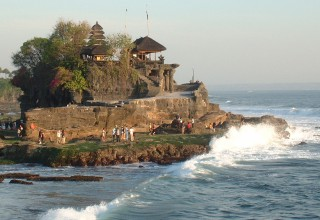 Sacred Tanah Lot temple on Bali's west coast