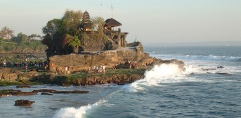 Sacred Tanah Lot temple on the SW coast of Bali