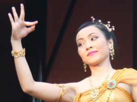 Graceful traditional Thai dancer