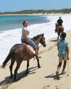 Glorious riding on Natadola Beach, Fiji