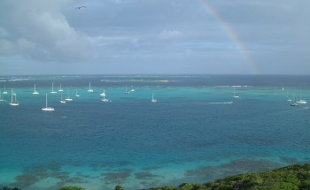Rainbow over the Tobago Cays