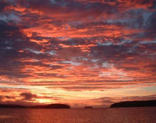 Sunset in the Vava'u Group of Tonga