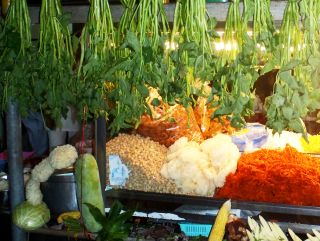 Vegetarian street food at the Festival, Phuket, Thailand